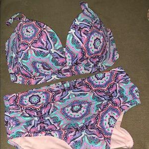 Victoria Secret Paisley Two-Piece Swimsuit